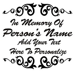 Memorial Design Decal Sticker